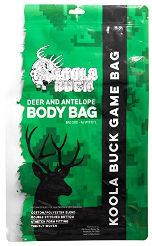 Koola Buck 5-Pack Reusable Hunting Game/Meat Bags - 1-Pack 72' Full...