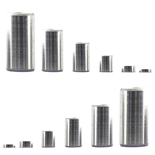 5 casquillos distanciadores de 15 x 10,5 x 20 de aluminio, tornillos...