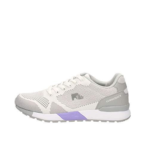 Lumberjack Vendor, Sneaker Donna, Bianco (White/Lt Grey M0177), 39 EU