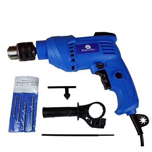 600W Electric Impact Drill Hammer Action Variable Speed Masonry Power Corded