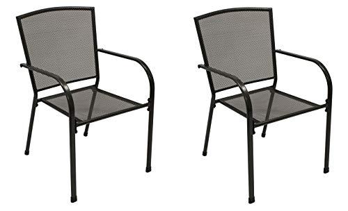 GXK Gartenstuhl Stapelstuhl Gartensessel Gartenmöbel Sessel Metall, 2 STCK