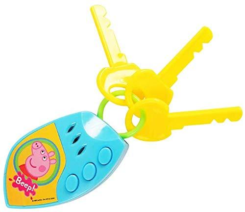 Unbekannt 1384026 Peppa-Schwein-elektronische Auto-Schlüssel mit Ton
