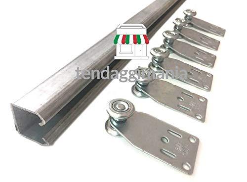 Tendaggimania - Guía monorial en hierro galvanizado MR3 - Superficie de deslizamiento para lonas de PVC, toldos pérgolas, varios tamaños