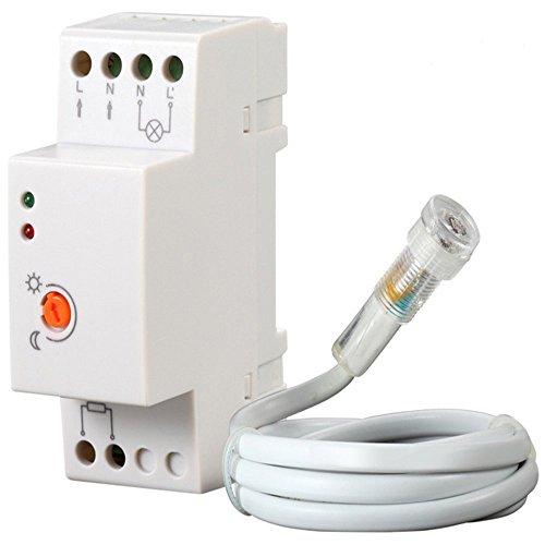 Maclean MCE83 - Sensor Interruptor crepuscular IP 65 Montaje en Carril DIN