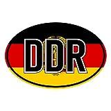 Generisch Aufkleber Länderkennzeichen DDR | Sticker | Flagge | PKW | Auto | Autoaufkleber