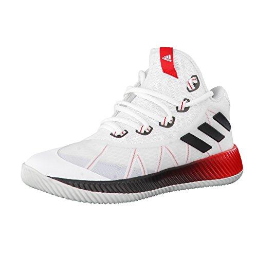 adidas adidas Unisex-Kinder Energy Bounce Bb J Turnschuhe, Elfenbein (Ftwbla/Negbas/gritra), 36 EU