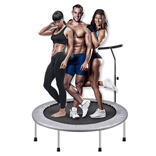 GXY Ronde bounce bed home gym oefening trampoline indoor trampoline met volwassen leuning mini trampoline dubbele bungee springbed, draagvermogen van ongeveer 120KG
