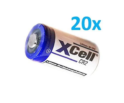20x XCell Fotobatterie CR2 Lithium Batterie 3V 850mAh CR15H CR15H270 CR17355 DLCR2 CR15H270 AKKUman Set (20er)