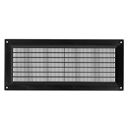 300x130 mm Schwarz Lüftungsgitter 30x13cm Insektenschutz Gitter Lüftung aus ABS Kunststoff