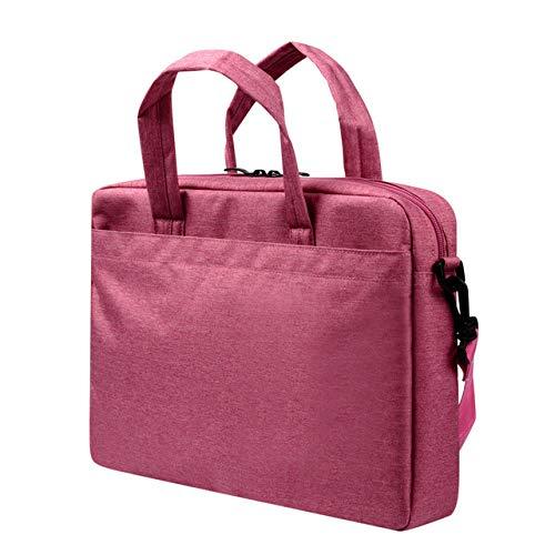 YYXJLG Laptop Bag,Laptop Bag for MacBook Pro 13 15 inch Waterproof Notebook Bag Shoulder Bag for Dell Lenovo HP Xiaomi Dell 15.6' Message Bag,Rose Red,15.6 inch
