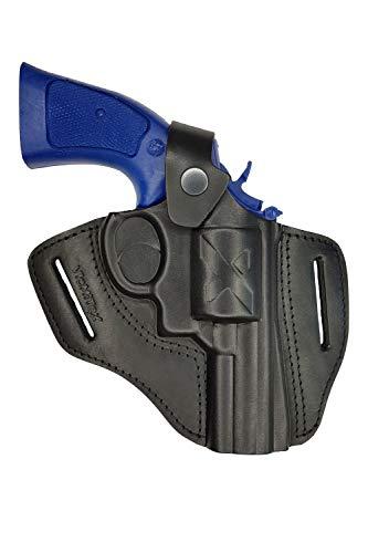 VlaMiTex R3 Holster Cadre K/L pour Revolver Smith and Wesson 10/19/44/66/67/69, Canon 2,5 Pouces, en Cuir