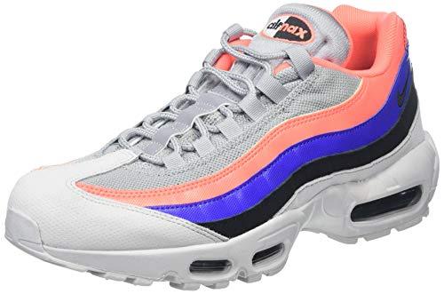 Nike Men's Air Max 95 Essential Low-Top Sneakers, Grey (Pure Platinum/Black-Bright Mango 035), 11 UK