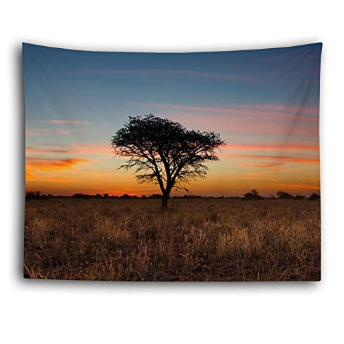 haoyunlai Naturaleza Pared tapicería Mandala árbol Bosque Paisaje Boho habitación decoración psicodélico Tapiz Hippie Dormitorio Dormitorio Tela de la Pared Alfombra-1_130 * 150 cm