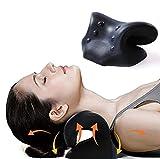 fabsamb cuscino trazione cervicale ortopedico, dispositivo rilassante collo e spalle allevia dolore e allinea la colonna vertebrale