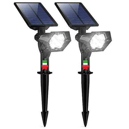 Luces solares para jardín LightEasy, 2 unidades, luces de exterior impermeables, lámparas solares de jardín, luces LED, focos solares de jardín con panel solar, lámpara LED de suelo, nuevo diseño 2020