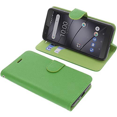 foto-kontor Tasche für Gigaset GS100 Book Style grün Schutz Hülle Buch