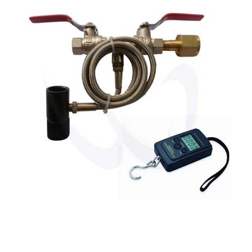 """WaveToGo Dual Valve Paintball CO2 Refill Fill Station 40"""" Hose + A01L Digital Scale"""