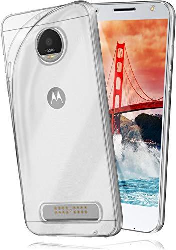 moex Aero Hülle für Motorola Moto X4 - Hülle aus Silikon, komplett transparent, Handy Schutzhülle Ultra dünn, Handyhülle durchsichtig - Klar