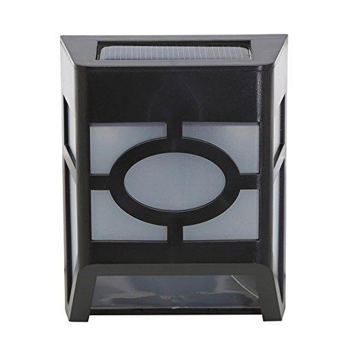 Lampes pour extérieur étanche solaire jardin, lampe solaire pour murs, allées, cour, couloir, Veilleuse,Blanc Chaud Lumière, 1 pièce