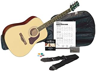 Silvertone SD3000 Acoustic Guitar Pack, Natural