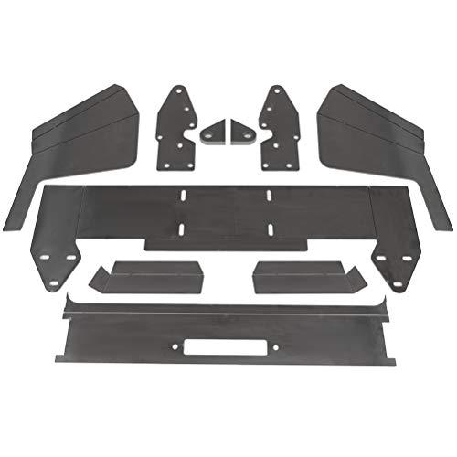 OCPTY Front Bumper Bare Metal Kit Winch Mount Plate fit For Jeep Cherokee XJ 1984-2001