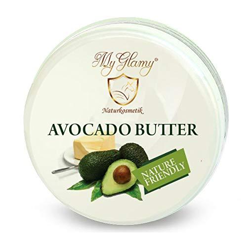 REINE AVOKADO-Butter 100% Natur Creme AVOCADO BODY-Butter ohne Zusätze 250 ml vegan trockene Haut Naturkosmetik