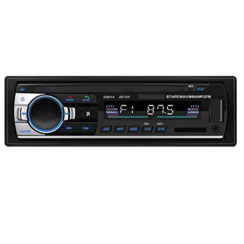 Nrpfell 1Din Coche Reproductor de MP3 Autoradio Radio EstéReo FM AUX Entrada Receptor USB Reproductor de MúSica 12V Radio Multimedia