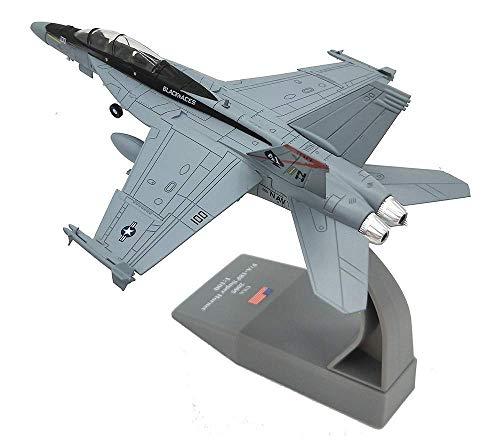 Suncolor8 Exterior Militar Modelo de aeronave, 1: 100 Segunda Guerra Mundial EE.UU. F-18 de Combate de aleación Modelo, los niños de Juguetes y coleccionables (7.3Inch Veces; 5.3inch) Interior