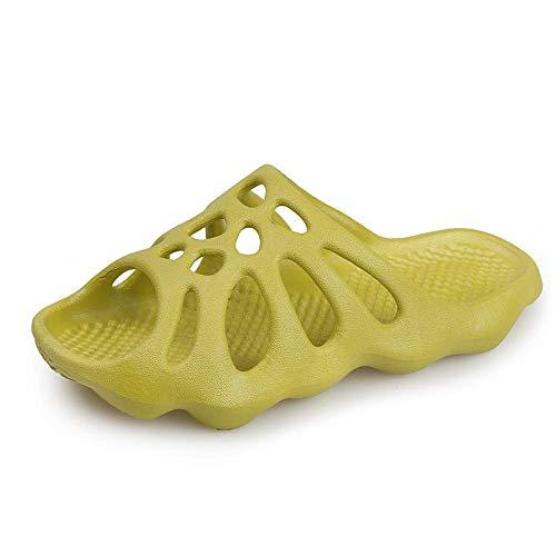 Nwarmsouth Zapatillas de Ducha Transpirables,Sandalias Antideslizantes Resistentes al Desgaste, Zapatillas de Masaje para el hogar-Verde Claro_40-41,de baño para el hogar Zapatillas