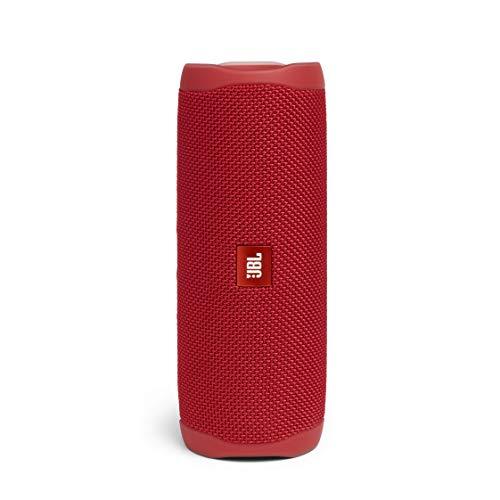 JBL Flip 5 – Enceinte Bluetooth Portable Robuste – Conception Étanche pour Piscine & Plage – 12 Heures d'Autonomie – Son Unique de JBL – Rouge