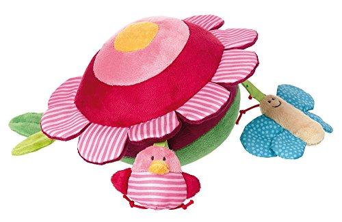 sigikid, Mädchen und Jungen, Soft-Aktiv-Ball, PlayQ Wiese, Lern und Experimentierspielzeug, Grün/Pink, 41877