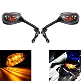 MZS MotorcycleTurn Signal Mirrors Rear View Side...