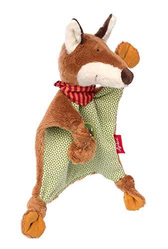 SIGIKID Mädchen und Jungen, Schnuffeltuch Fuchs Forest Fox, Babyspielzeug, empfohlen ab 0 Monaten, grün/braun, 39234