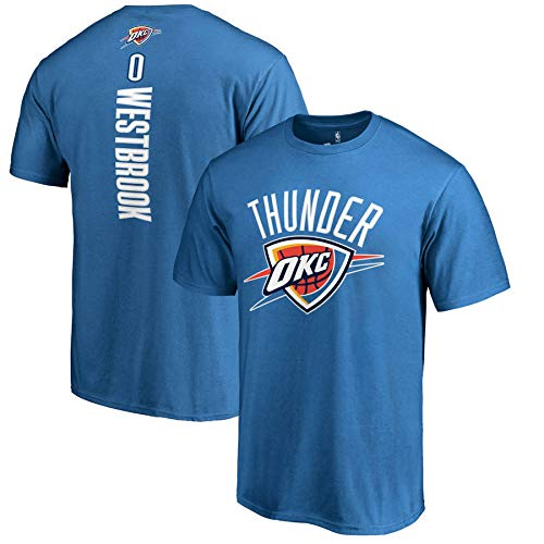 FANS LOVE Ventilador De Baloncesto Ocasional Hombre De La Camiseta De La NBA Oklahoma City Thunder Jersey Gimnasia Chaleco Deportes Camisetas Blue-XL