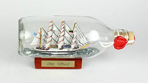 Sea Cloud runde Flasche 0,3 Liter Buddelschiff Flaschenschiff