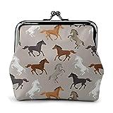 Portamonete Simpatico portafogli a forma di cavallo Fibbia in pelle Borsa da viaggio per il cambio di trucco da viaggio
