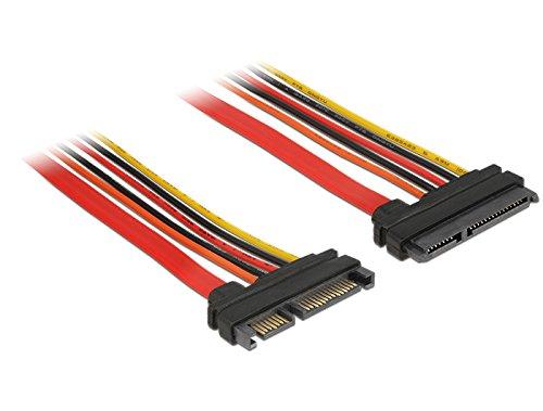 DeLock Verlängerungskabel SATA 6 Gb/s 22 Pin Stecker > SATA 22 Pin Buchse (3,3 V + 5 V + 12 V) 20 cm