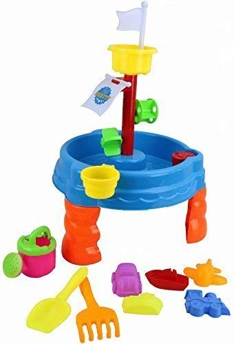 Kinder Rund Sand & Wasser Aktivität Tisch Sandkasten mit Zubehör