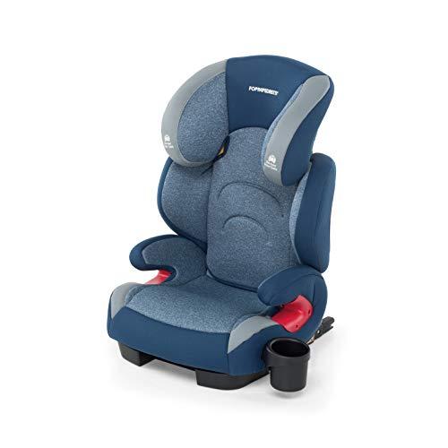 Foppapedretti Best duoFix Seggiolino Auto Omologato, Gruppo 2-3 (15-36 kg), per Bambini da 3 a 12 Anni, Sky