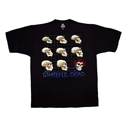 Liquid Blue Herren T-Shirt Grateful Dead Evolution Kurzarm - Schwarz - X-Groß