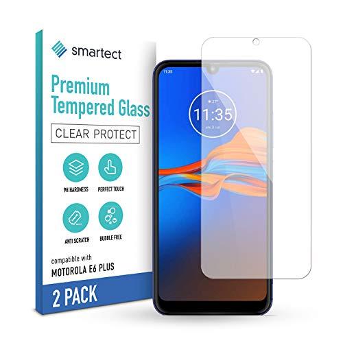 smartect Schutzglas kompatibel mit Moto e6 Plus [2 Stück] - Tempered Glass mit 9H Festigkeit - Blasenfreie Schutzfolie - Anti-Kratzer Bildschirmschutzfolie