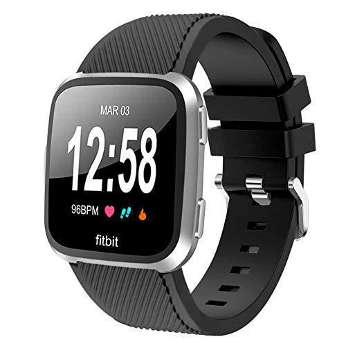 Vozehui Armband Kompatibel mit Fitbit Versa Armband/Fitbit Versa 2 Armband, weiches Silikon Wasserdichtes Ersatz-Sportarmband für Fitbit Versa 2/Fitbit Versa/Versa Lite, Damen Herren