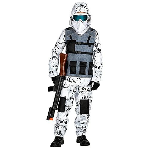 WIDMANN 01716 Arctic Special Forces - Costume da bambino, 128 cm, colore: Bianco/Grigio
