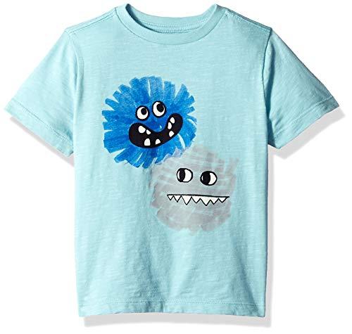 Gymboree Boys' Big Short Sleeve Crewneck Graphic Tee, Light Blue Monster Friends, 3T