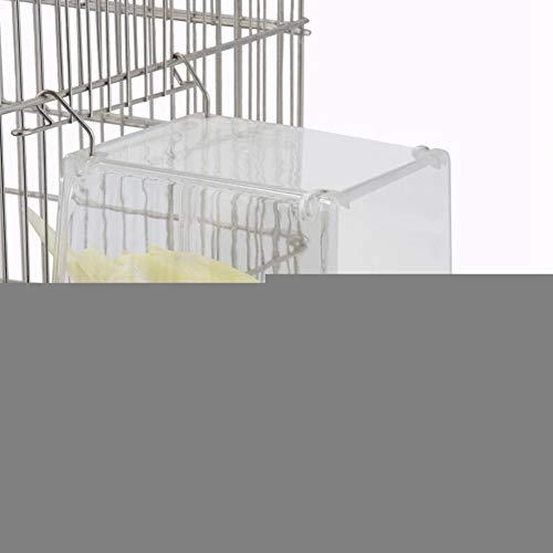 NITRIP mit Schraubenzubehör-Kit, Vogelfutterbehälter, Vogelhäuschen, langlebigem Kunststoff Automatische Vögel mit großer Kapazität für Haushaltspapageien Pet Sotre Sittich