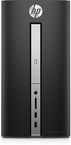 HP Pavilion 570-p044ns - Ordenador de sobremesa (AMD A10-9700, 16GB RAM, 1TB HDD, Windows 10), color negro