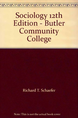 Sociology 12th Edition - Butler Community College