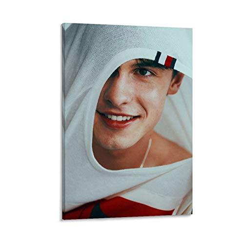 AMINIT 9 pósteres de canadiense de cantante Shawn Mendes de pintura decorativa en lienzo para pared, para sala de estar, dormitorio, 40 x 60 cm