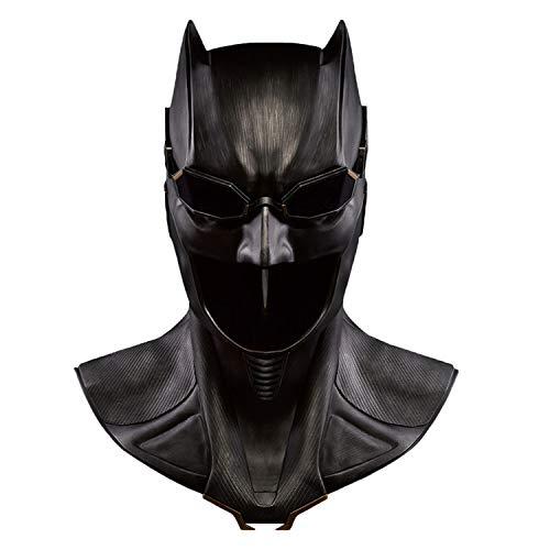 QWEASZER Casco Batman Dark Knight Mask Superhero Adulto 1: 1 Deluxe Edition per Oggetti da Collezione Halloween Masquerade per Donne Adulte Uomini Cosplay Costume Puntelli,Black-<60cm