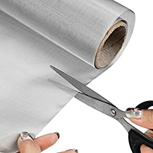 "TIMESETL 304 Stainless Steel Woven Wire 200 Mesh - 12""X 40"" Filter Screen Sheet Filtration Cloth"